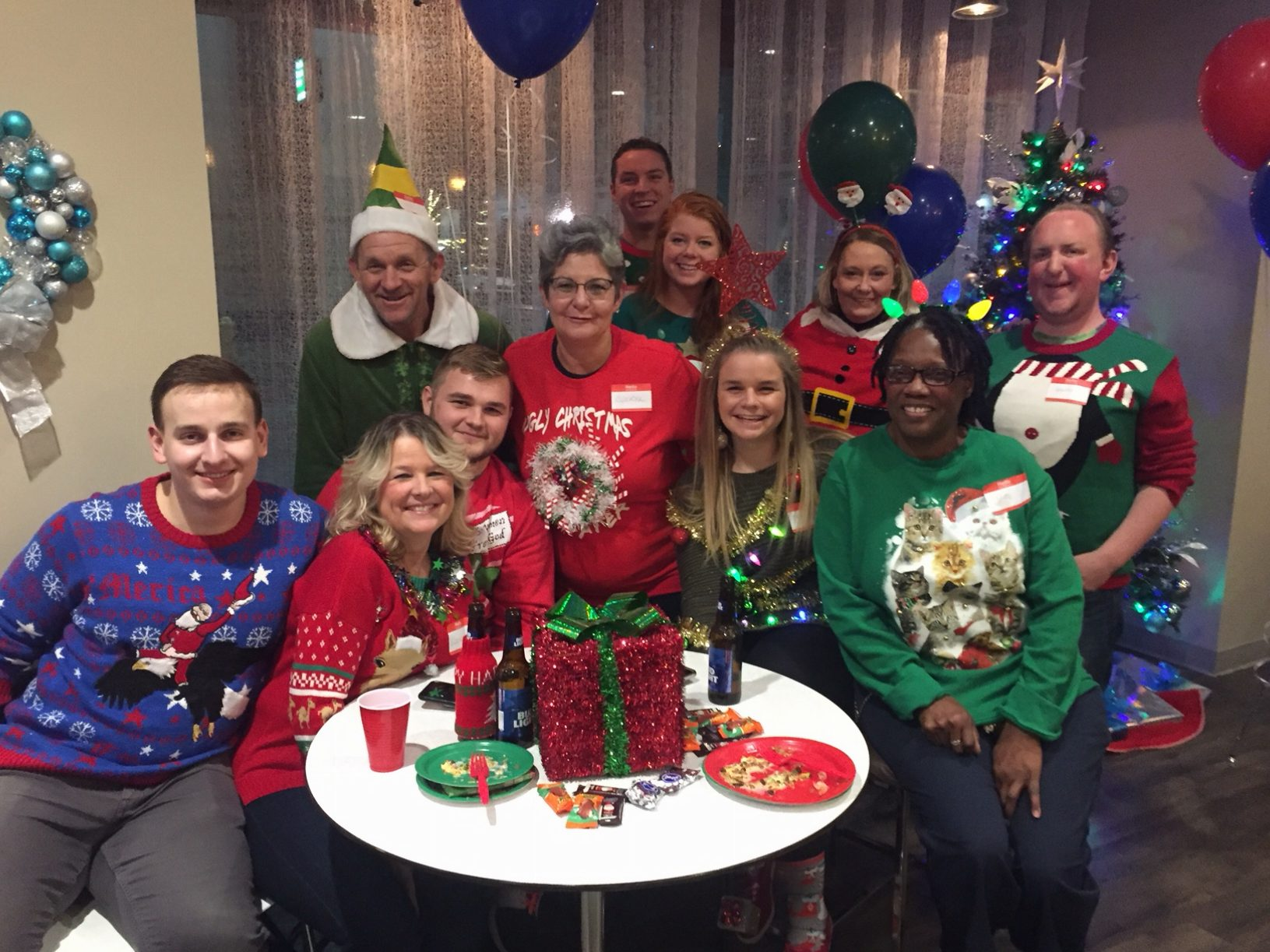 The Ugly Christmas Sweater Party.Lytle Tower Annual Ugly Christmas Sweater Party